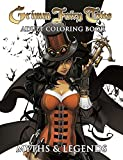 img - for Grimm Fairy Tales Adult Coloring Book Myths & Legends book / textbook / text book