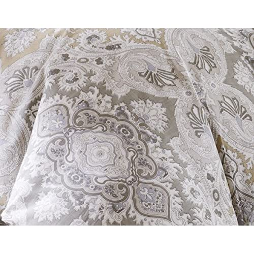 Echo Design Odyssey Full Size Bed Comforter Set Grey Paisley 4