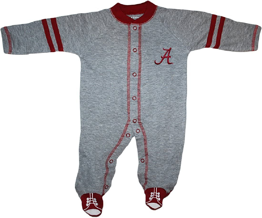 University of Alabama Crimson Tide Sports Shoe Footed Baby Romper