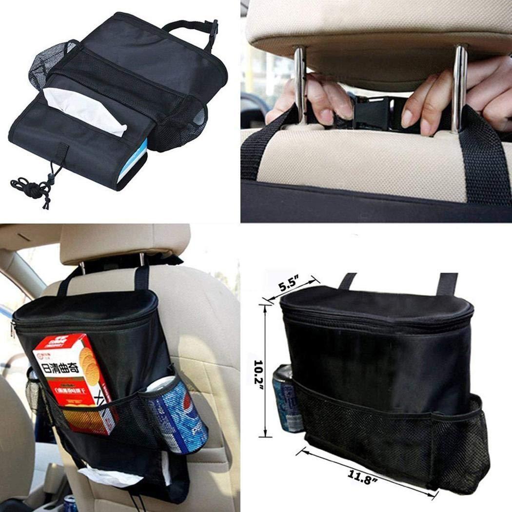 hiriyt Durable Wear-Proof Multi-Pocket Insulation Car Seat Back Bag STO Seat Back Organizers
