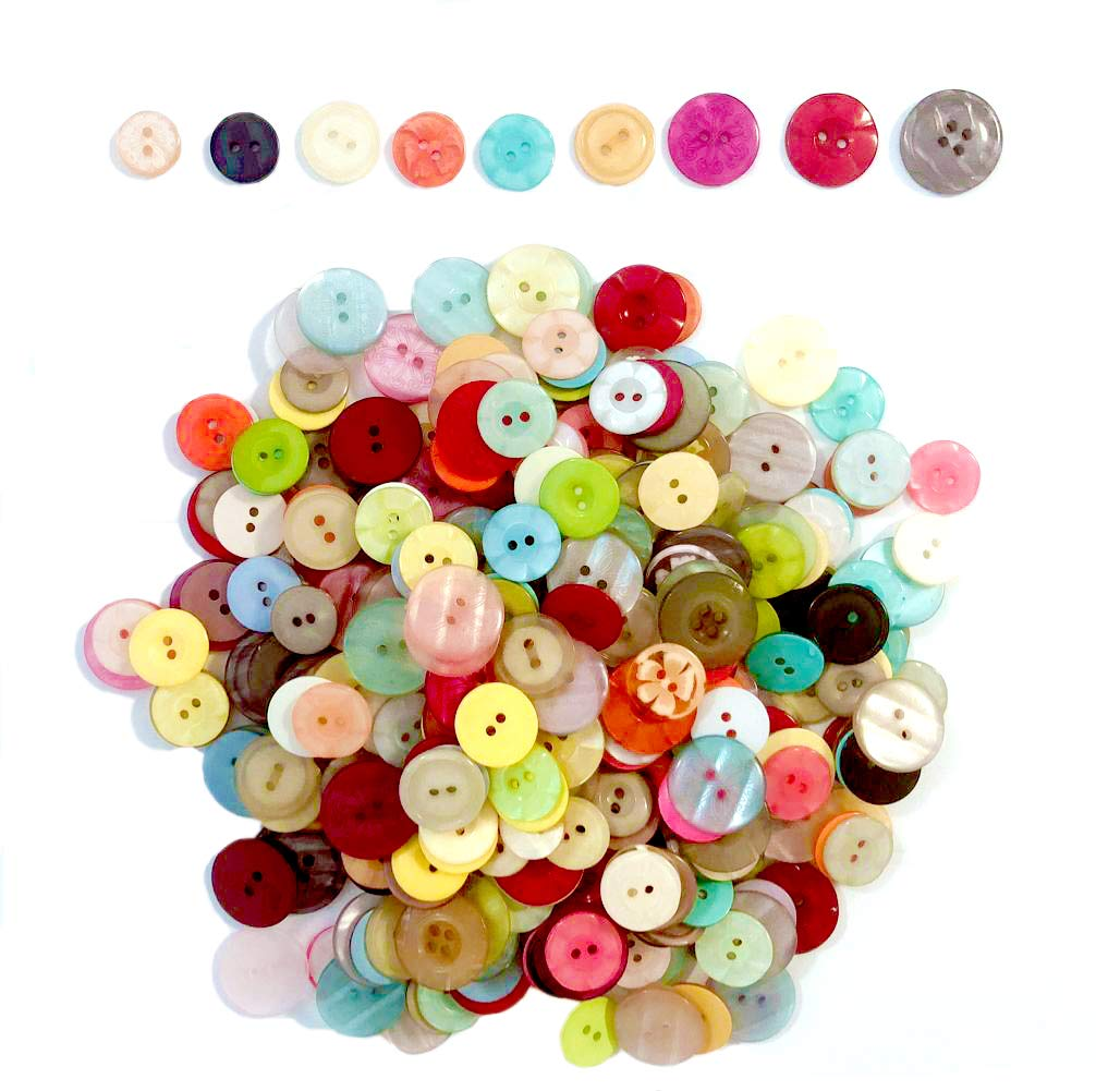 2 Holes and 4 Hole RayLineDo/® 100G Assorted Colors and Sizes Resin Buttons Variety of Patterns for DIY Crafts Sewing