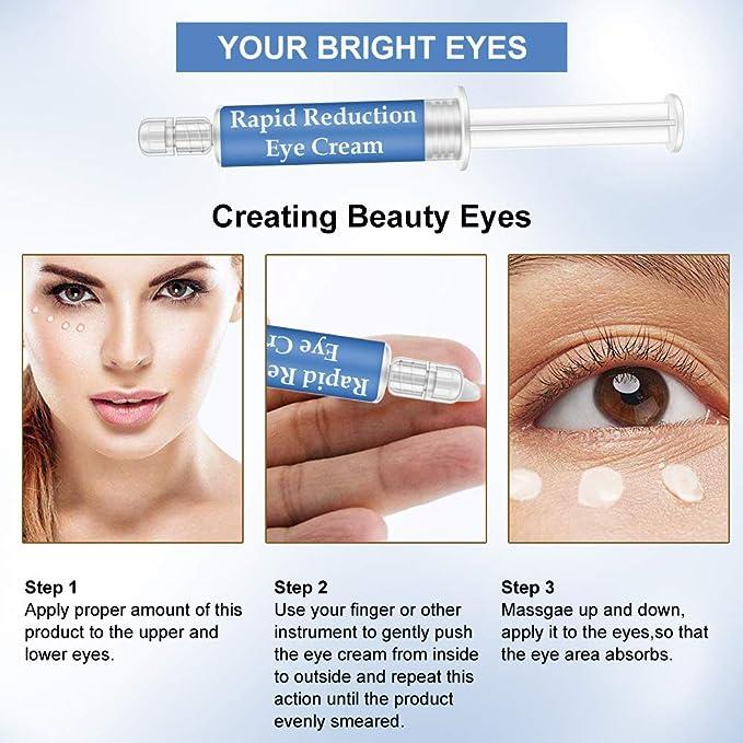 Amazon.com: Gel de ojos de reducción rápida de la crema de ...