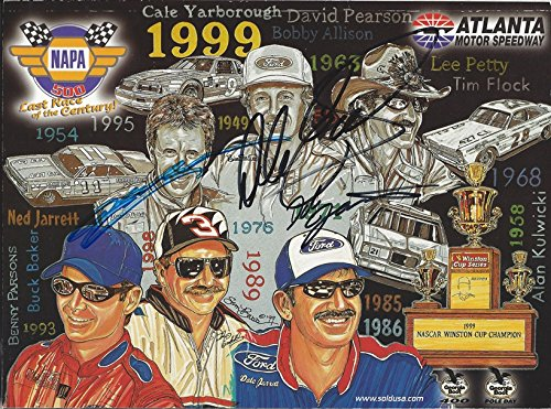 3X AUTOGRAPHED Dale Earnhardt Sr. / Jeff Gordon/Dale Jarret 1999 ATLANTA MOTOR SPEEDWAY NAPA 500 (Winston Cup Series) Vintage Signed 9X11 Inch Official NASCAR Souvenir Race Program with COA