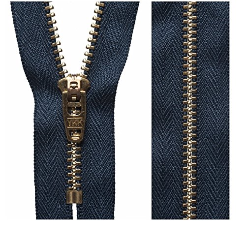 "1 Zip 6/""//15cm Gold Metal Zip Closed End"