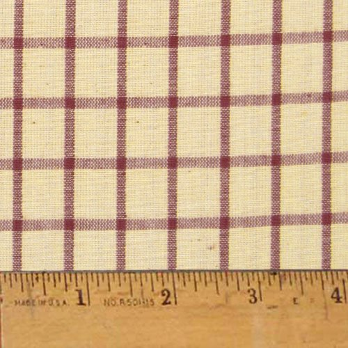 Rustic Red 6 Homespun Cotton Plaid Fabric by JCS - Sold by The Yard