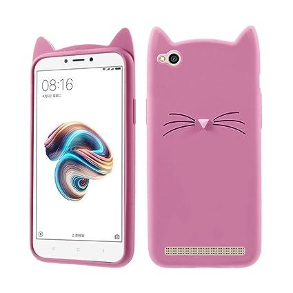 uk availability 93489 e491f Case Creation Redmi 5A Cat Covers,Cute 3D Mustache Cat: Amazon.in ...
