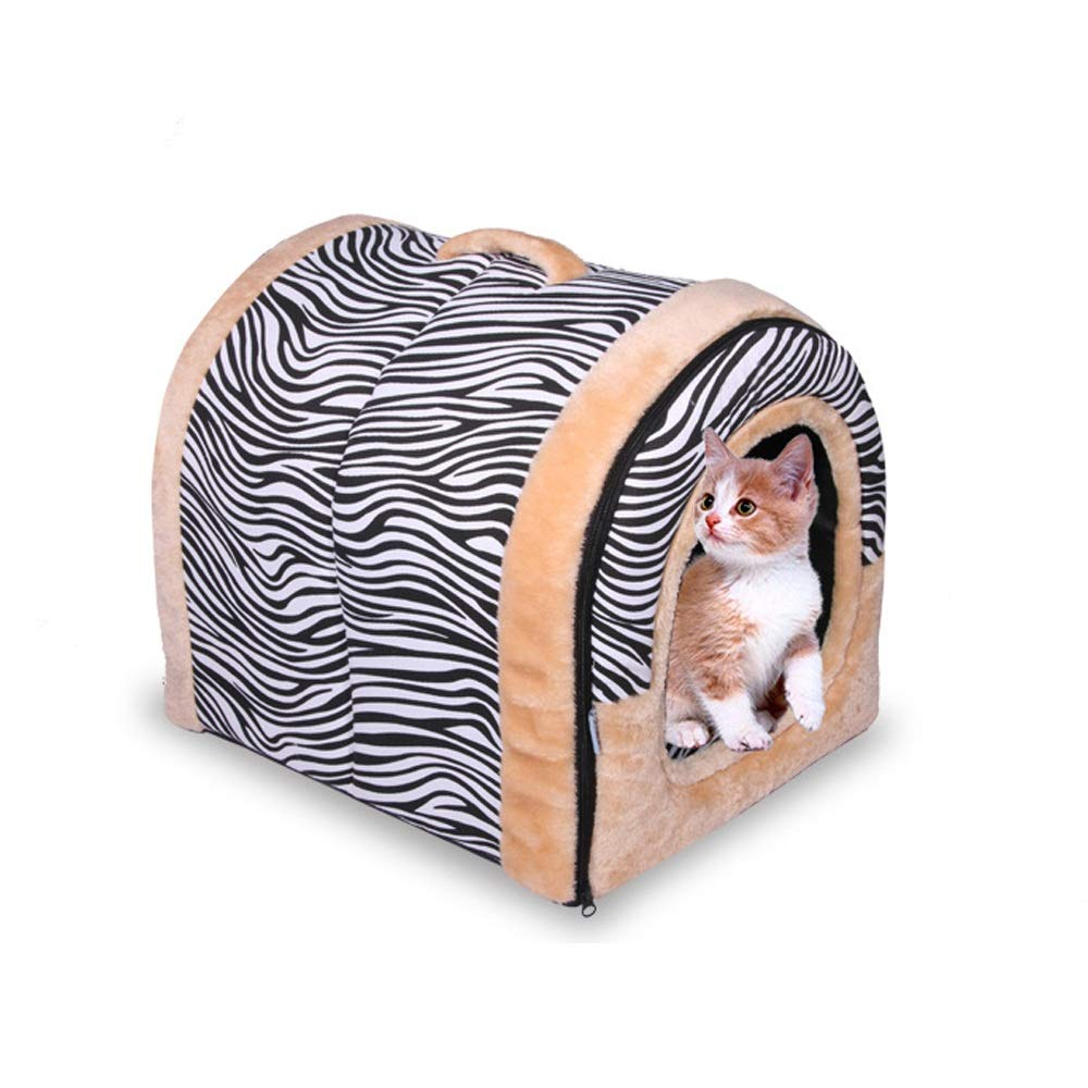 Large Washable Puppy pet Bed Camber House Nest Cat and Dog Kennel Washable Spring and Summer Seasons Dual-use Nest Pet Nest Cat Litter Housing (Size   L)