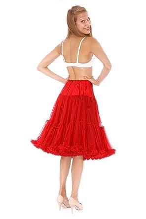 "664d7248bf Malco Modes Womens Luxury Vintage Rockabilly Petticoat Crinoline Underskirt  26"" Red -"