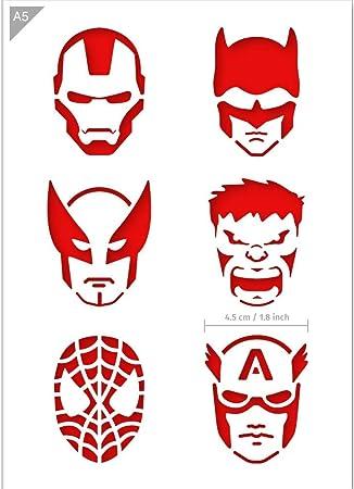 Remarquable Amazon.com: QBIX Superheroes Stencil - Ironman, Batman, Wolverine NX-78