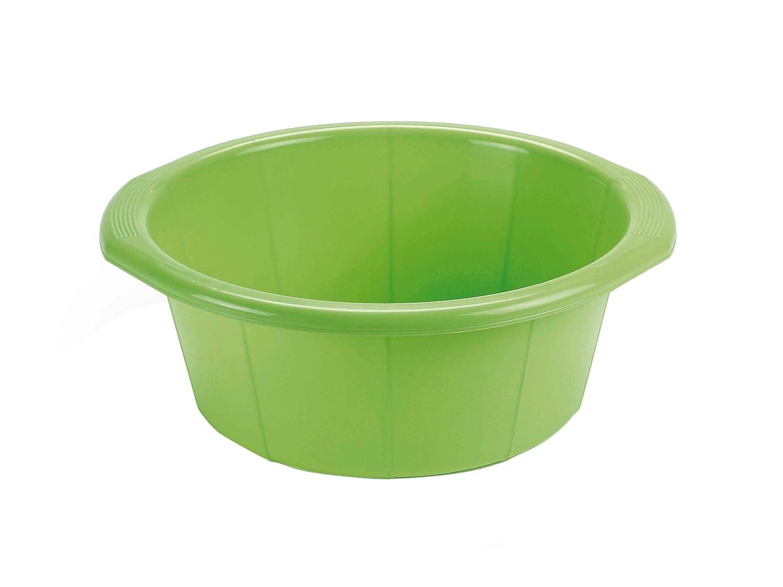 Maya Professional Tools 09072 Round Washing Up Bowl, 8.5 Litres, Green 8.5Litres es biss MBYMX
