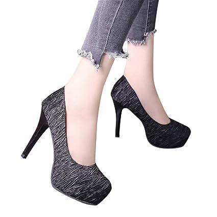 7435d4256418c Amazon.com: Fainosmny Women Shoes Sexy High Heels Pointed Head ...