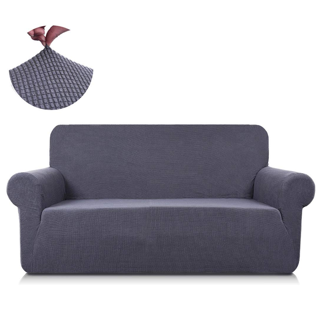 Wondrous Tastelife Sofa Couch Cover Loveseat Slipcover 1 Piece Stretch Jacquard Armchair Shield 2 Seat Furniture Protector Chair For Living Room Gray Love Seat Ocoug Best Dining Table And Chair Ideas Images Ocougorg