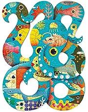 DJECO DJO7651 Puzzel Art Octopus 350 stukjes, kleurrijk