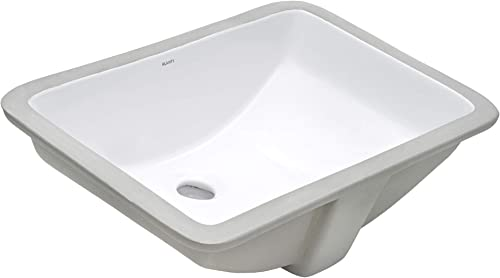 Ruvati 19 x 12 inch Undermount Bathroom Vanity Sink White Rectangular Porcelain Ceramic with Overflow – RVB0721