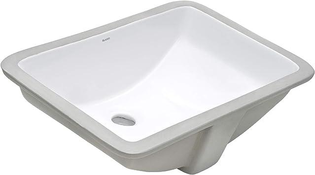 Ruvati 21 X 14 Inch Undermount Bathroom Vanity Sink White Rectangular Porcelain Ceramic With Overflow Rvb0721 Amazon Com