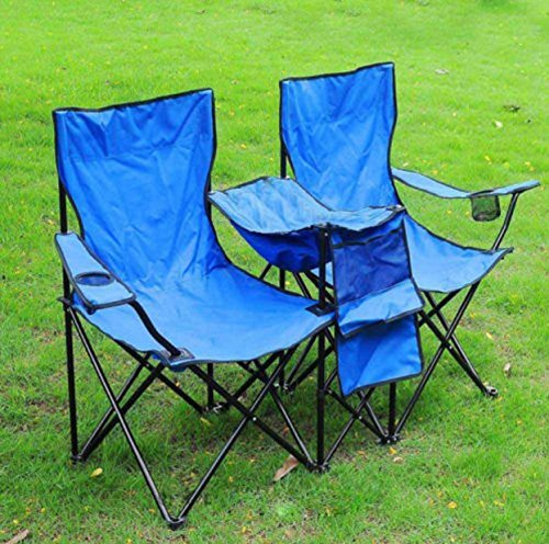 Portable Folding Picnic Double Recline Chair W Umbrella