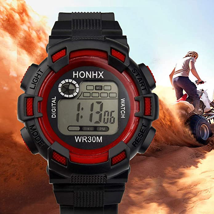 Amazon.com: XGUMAOI Analog Digital Military Army Sport Watch Luxury Mens LED Waterproof Wrist Watch (Red): Jewelry