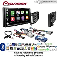 Volunteer Audio Pioneer AVH-2440NEX Double Din Radio Install Kit with Apple CarPlay, Android Auto and Bluetooth Fits 2009-2010 Ram 2011-2014 Chrysler 200 (Retains Steering wheel controls)