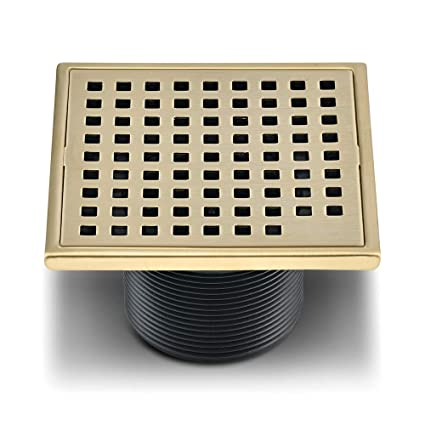 Square Shower Drain Cover.Qm Square Shower Drain Grate Made Of Stainless Steel Marine 316 And Base Made Of Abs Lagos Series Mira Line 4 Inch Satin Gold Finish Kit Includes