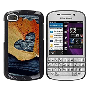 LASTONE PHONE CASE / Slim Protector Hard Shell Cover Case for BlackBerry Q10 / Cool American Pattern Watercolor Purple
