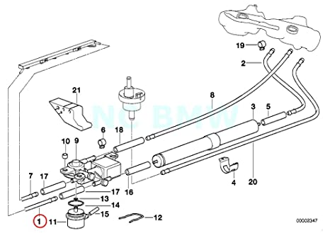 amazon com bmw genuine front fuel feed line automotive Johnson Evinrude Fuel Pump Diagram
