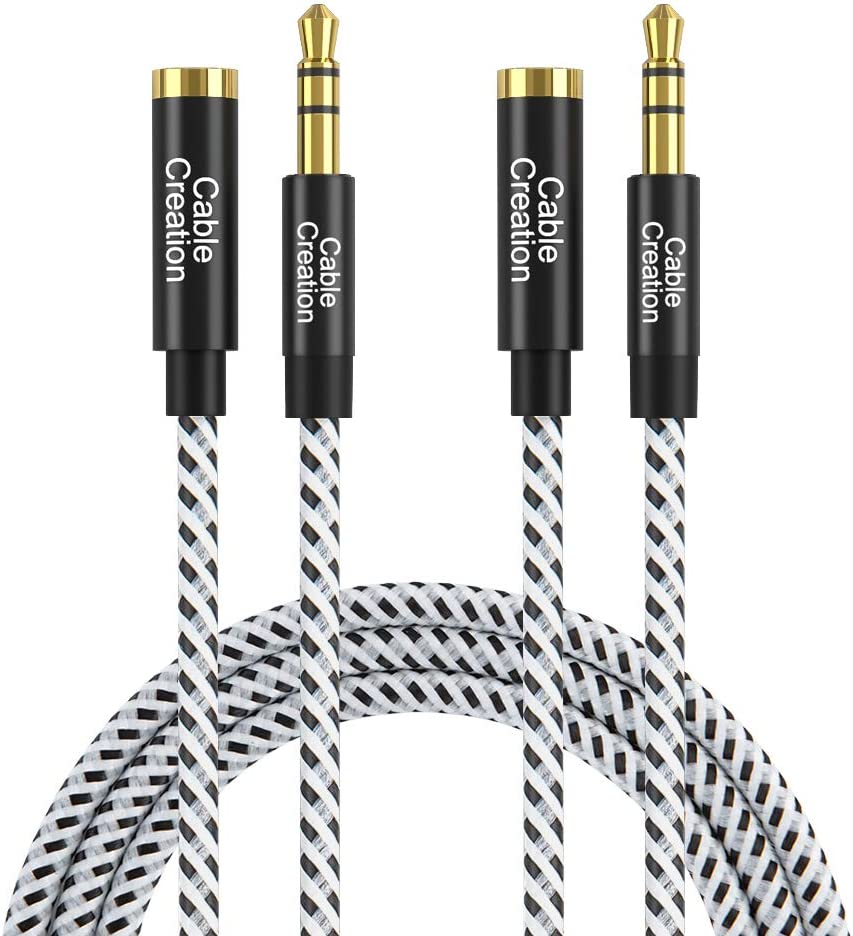 25ft long 3.5mm Stereo Male~Female Extension Audio//Headphone//  Cable//Cord {K