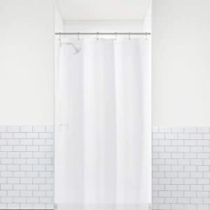 """LiBa PEVA 8G Bathroom Small Shower Stall Curtain Liner, 36"""" W x 72"""" H Narrow Size, Frosted, 8G Heavy Duty Waterproof Shower Stall Curtain Liner Anti-Microbial Mildew Resistant"""