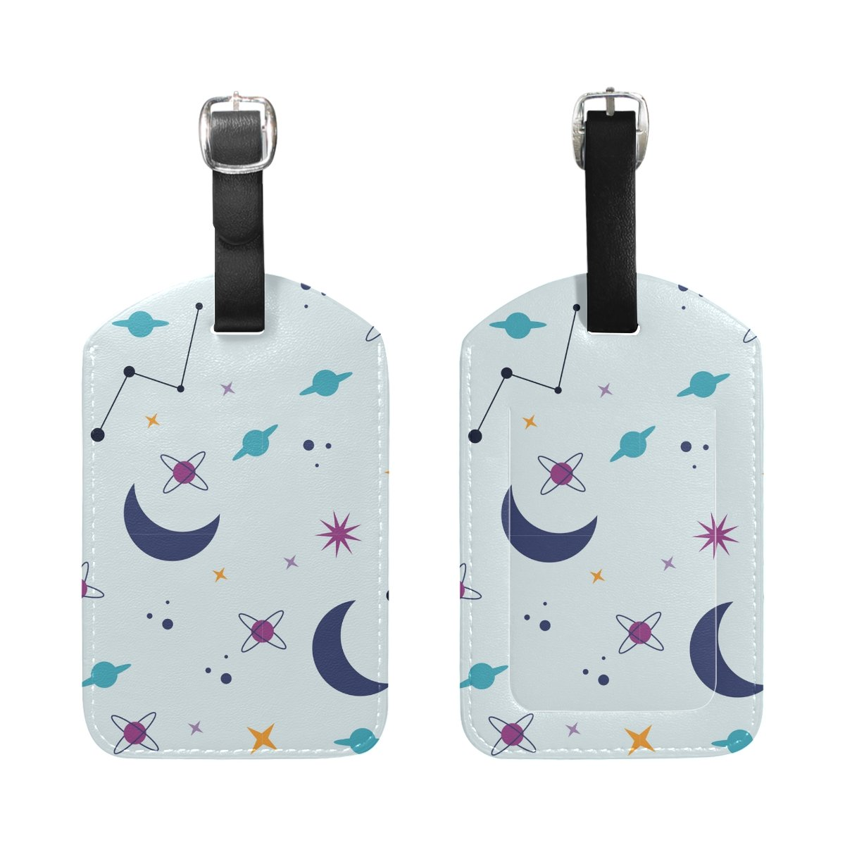 1Pcs Saobao Travel Luggage Tag Moon And Star PU Leather Baggage Suitcase Travel ID Bag Tag