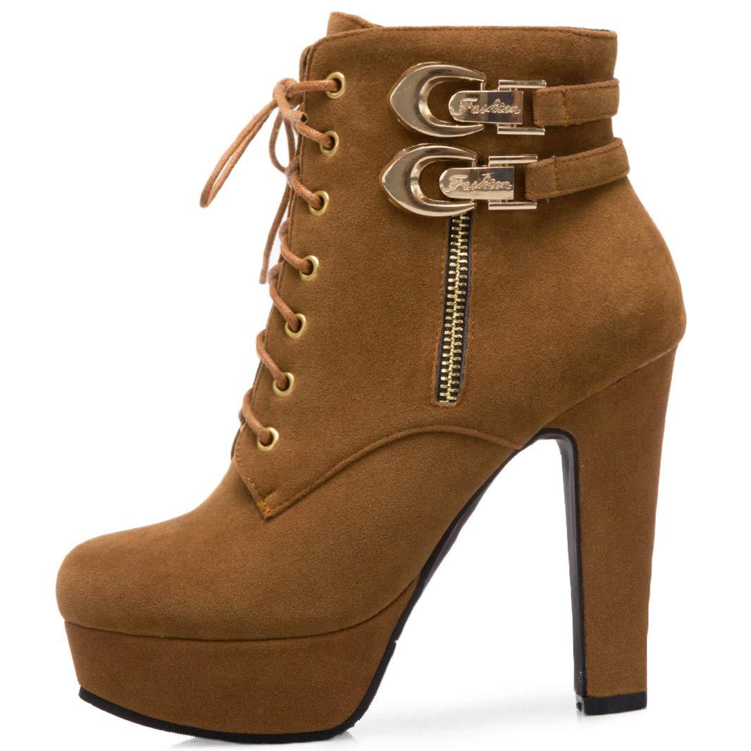 Mavirs Womens Malabo Block B07GJ2YTMN Heel Ankle-high 12 cm Boots B07GJ2YTMN Block Boots 9a2e93