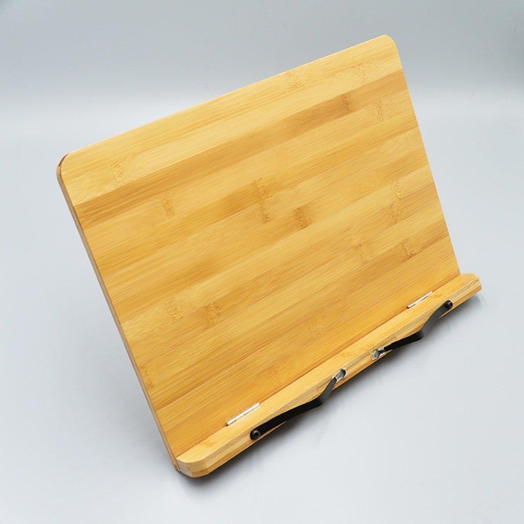 Decorative Shelf Dividers, Bamboo Reading Rest Cookbook Holder,copybook Frame,Foldable Bookrest Tablet Stand with Adjustable Backing, Tablet Computer Bracket,Book Holder Stand (Size : 38.628.4cm)