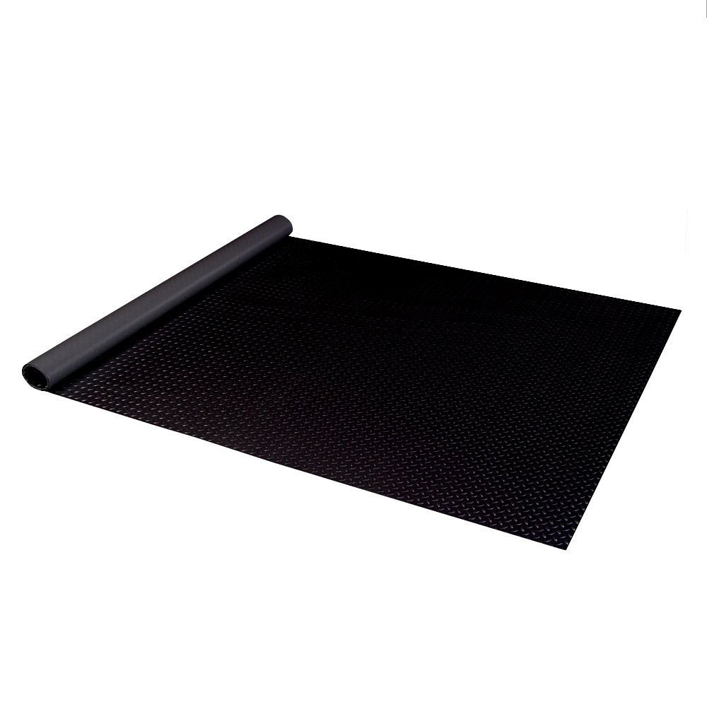 Auto Care Products 84200 Diamond Deck 2 Car Garage Kit with (2) 7.5' x 24' and (1) 5' x 24' Floor Mats, Black Textured