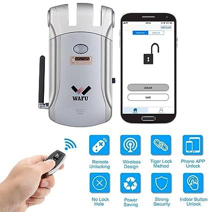 WAFU Cerradura Control Remoto WF-008U Cerradura Electrónico Inteligente Cerradura Invisible Desbloqueo de iOS Android