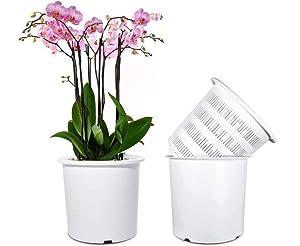 Mkono Plastic Orchid Pots Set