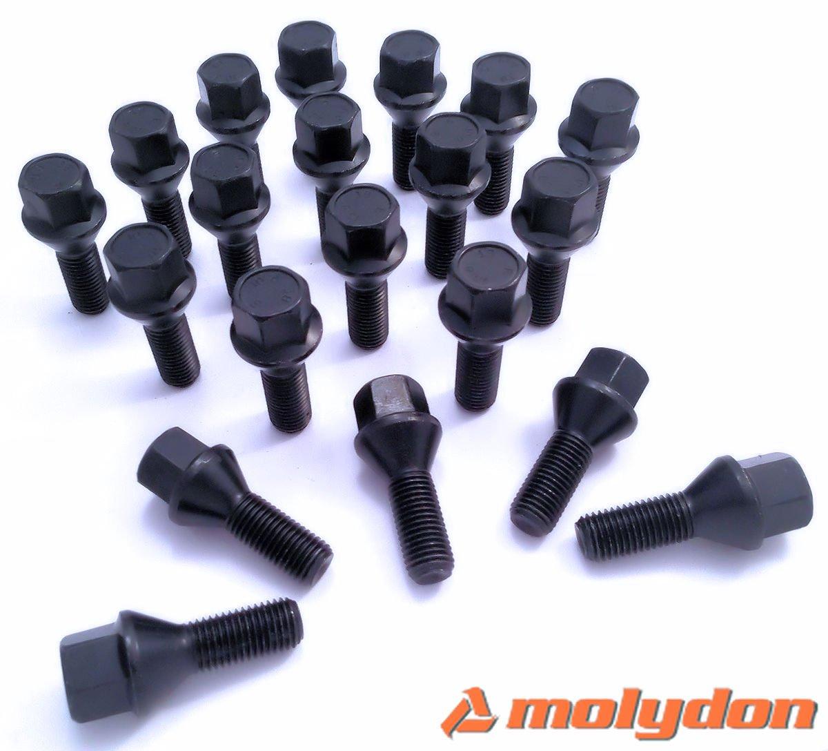 20 tornillos perno de rueda m12 x 1.25 x 50 cono kegelbund Fiat