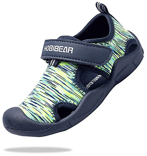 Buy ChayChax Boy's Girl's Water Sandals Kids' Aqua Shoes Quick Dry  Closed-Toe Outdoor Beach Sports Sandals Toddler/Little Kid, Green, 13.5  Little Kid at Amazon.in
