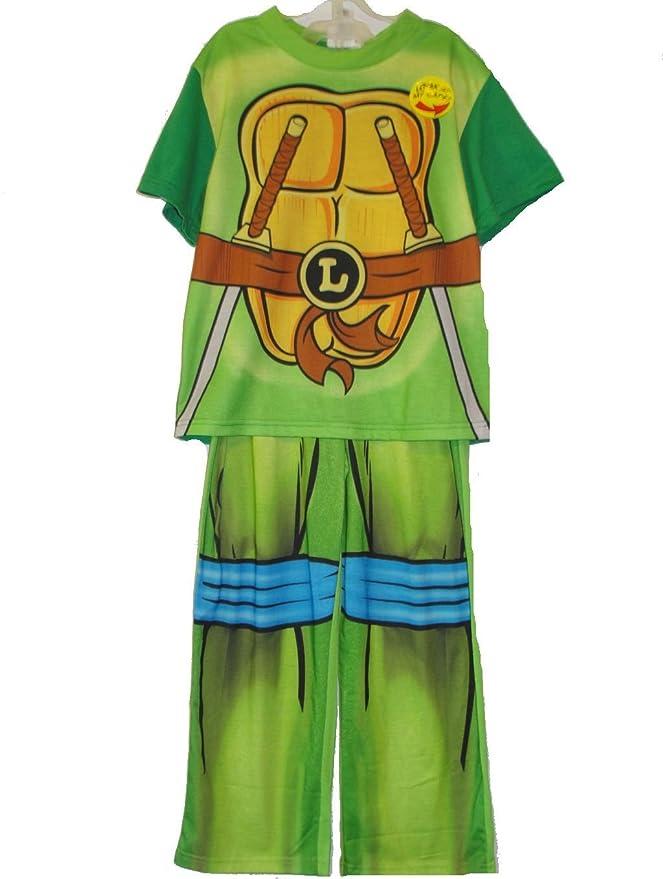 Amazon.com: Teenage Mutant Ninja Turtles Boys Size 10 Leonardo Caped Pajama Set: Clothing