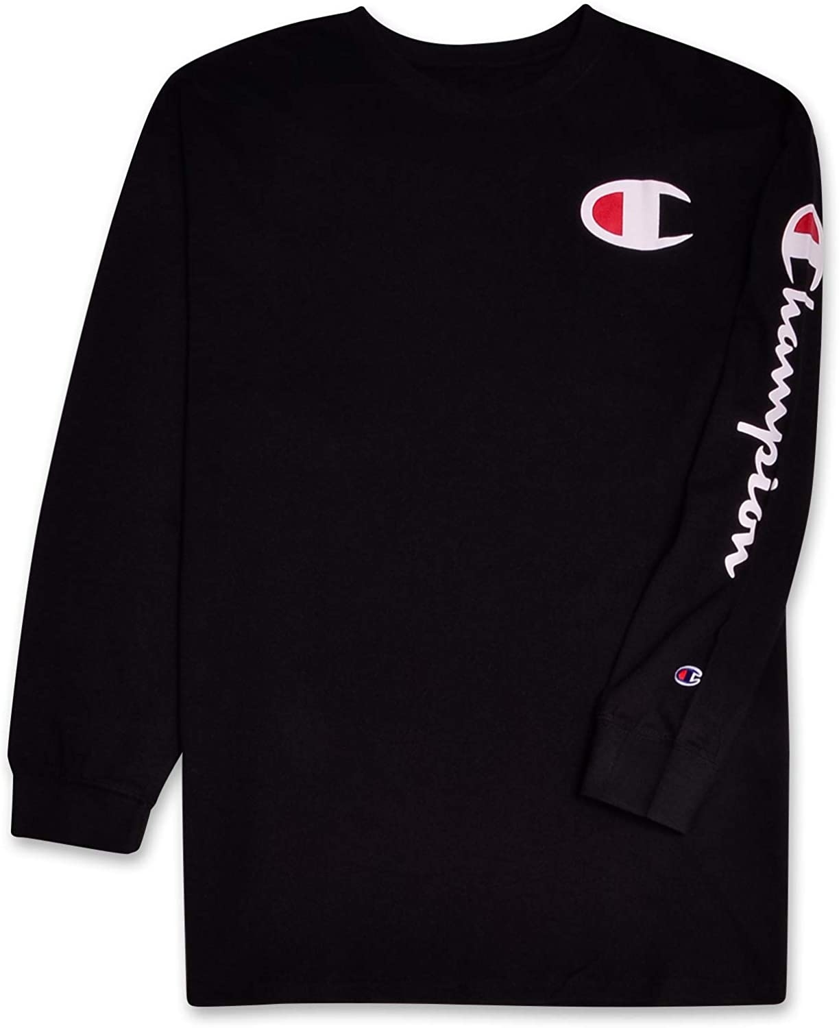 Champion Mens Big and Tall Long Sleeve Lightweight Jersey Pullover T-Shirt