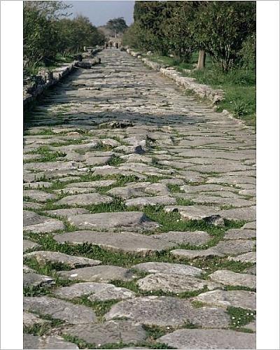 Italian Pave (10x8 Print of Roman street (1169942))