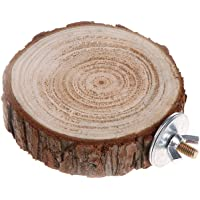 CADANIA Pet Platform Perch Round Wooden para Chinchilla
