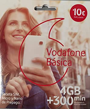 Vodafone Basica 4gb + 300 Minutos: Amazon.es: Electrónica