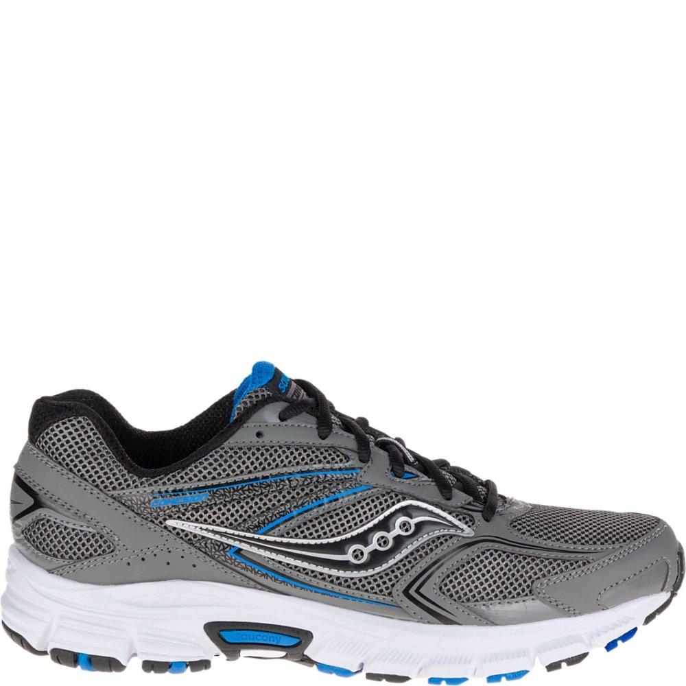 Saucony Men's Cohesion 9 Running Shoe, Grey/Black/Royal, 11 M US
