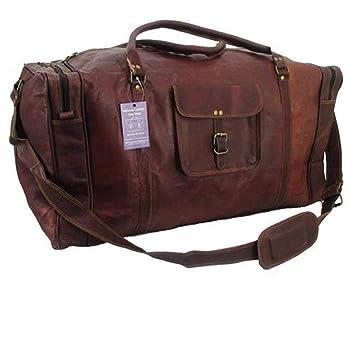 80b421c94de3b2 Amazon.com | 21 Inch Vintage Leather Duffel Travel Gym Sports Overnight  Weekend Duffel Bag | Travel Duffels
