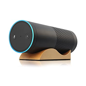 Lautsprecher Ständer,Schutzhülle Für Echo,LANMU Holz Lautsprecherständer  Ständer Standfuß Für Amazon Echo/