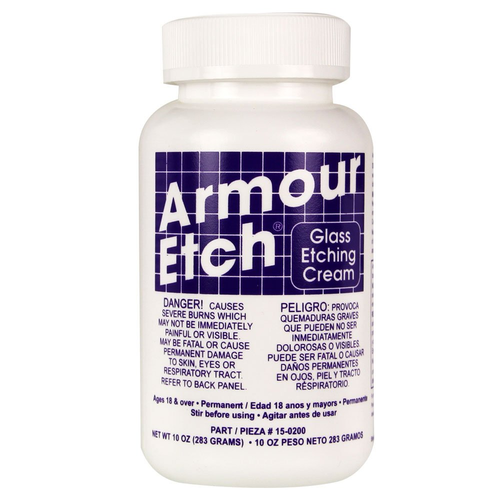 Armour Etch Cream 10 Ounce Arts Crafts Sewing Original Hn Crystal 15 G