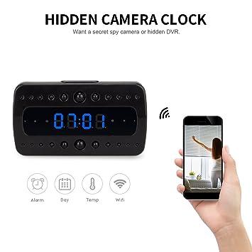 Fredi inalámbrico cámara Oculta Reloj Despertador HD 1080P WiFi Cámaras de vigilancia Visión Nocturna/detección