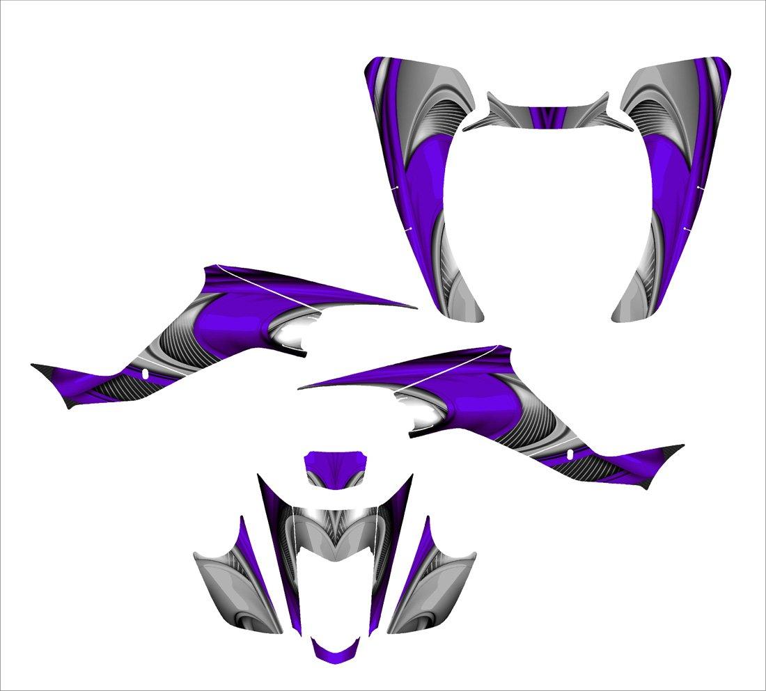 Suzuki LTZ 400 or Kawasaki KFX 400 Graphics Decal Kit Fits 2003-2008 Design No3737 (Purple)