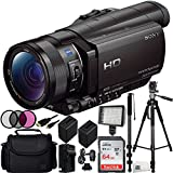 Sony HDR-CX900 Full HD Handycam Camcorder (Black) 64GB Bundle 15PC Accessory Kit. Includes SanDisk 64GB Ultra SDXC Memory Card (SDSDUNC-064G-GN6IN) + 2 Replacement FV-100 Batteries + MORE