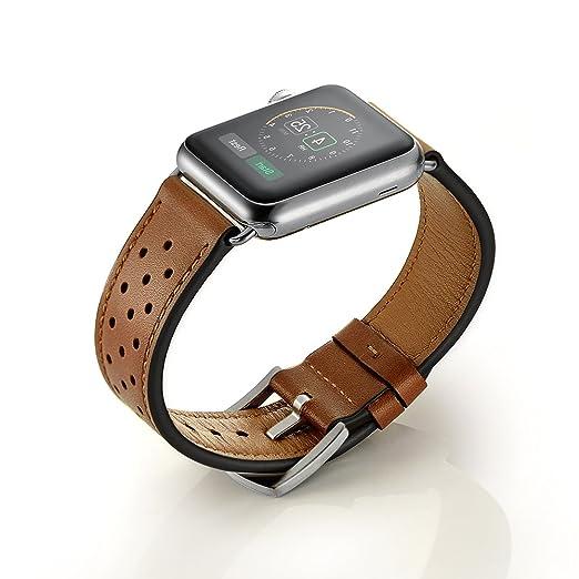 38 opinioni per Cinturino Apple Watch,SUNDAREE 42mm Vera Pelle Strap Wrist Band Orologio