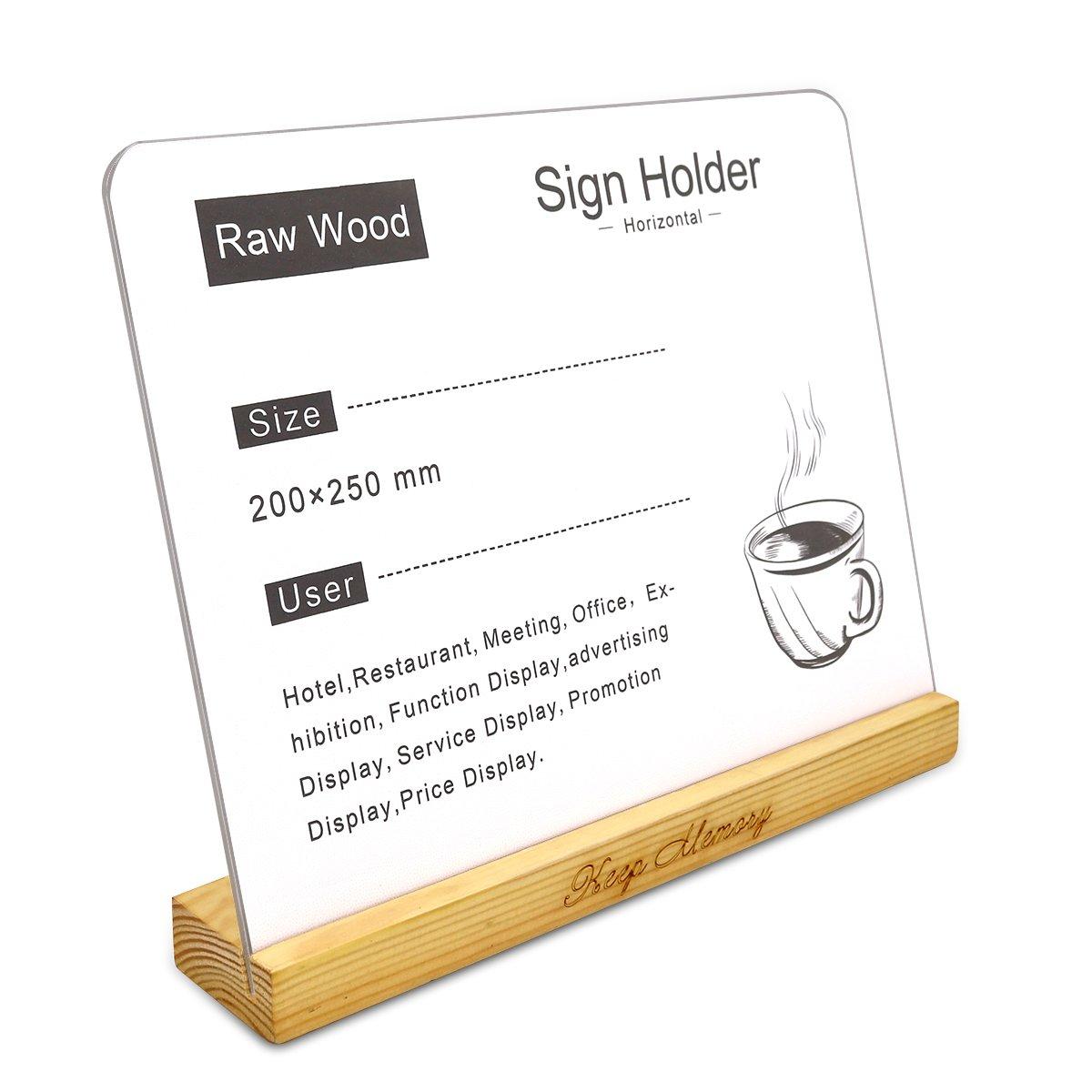 Shoptagr Acrylic X Sign HolderClearSlant Back Design Sign - Restaurant table sign holders
