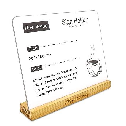 Amazon.com: Acrylic 8x10 Sign Holder,Clear,Slant Back Design Sign ...